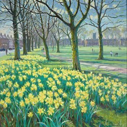 Chester Green by James Preston - Original Painting on Stretched Canvas sized 39x39 inches. Available from Whitewall Galleries